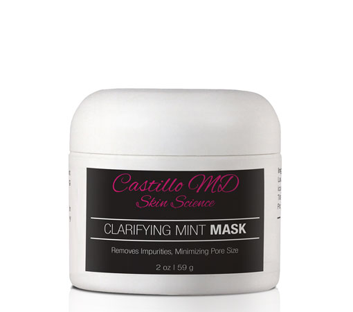 Bottle of clarifying mint mask by castillo md skin science
