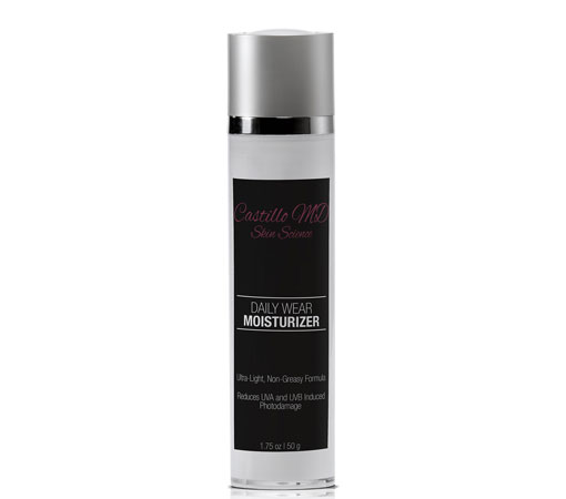 Bottle of daily wear moisturizer by castillo md skin science